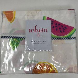 Martha Stewart Whim Twin XL Sheet Set Fruit Print